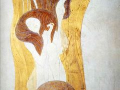 The Beethoven Frieze: The Longing for Happiness Finds Repose in Poetry. Right wall, detail – Gustav Klimt