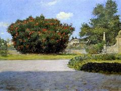 The Big Oleander — William Merritt Chase
