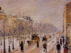 The Boulevards under Snow – Camille Pissarro