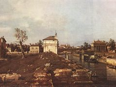 The Brenta Canal at Padua – Canaletto