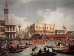 The Bucintore Returning to the Molo on Ascension Day – Canaletto