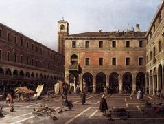 The Campo di Rialto – Canaletto