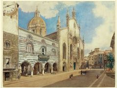 The Cathedral Square in Como – Rudolf von Alt