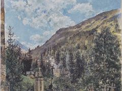 The cemetery in Gastein – Rudolf von Alt
