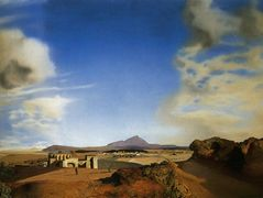 The Chemist of Ampurden in Search of Absolutely Nothing, 1936 (oil on panel) – Salvador Dali