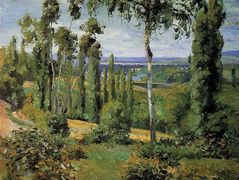 The Countryside in the Vicinity of Conflans Saint Honorine – Camille Pissarro