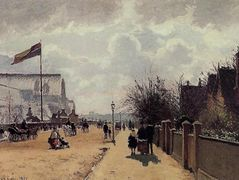 The Crystal Palace, London – Camille Pissarro