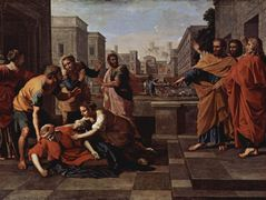 The Death of Saphire – Nicolas Poussin