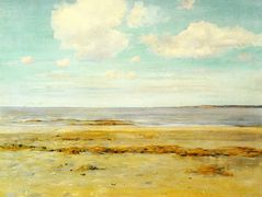 The Deserted Beach — William Merritt Chase