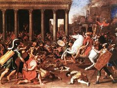 The destruction of the Temple at Jerusalem – Nicolas Poussin