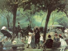 The Drive, Central Park – William James Glackens