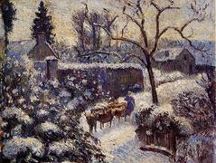 The Effect of Snow at Montfoucault – Camille Pissarro