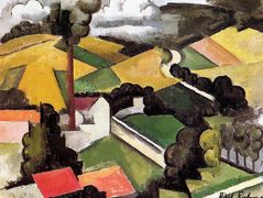 The Factory Chimney, Meulan Landscape – Roger de La Fresnaye