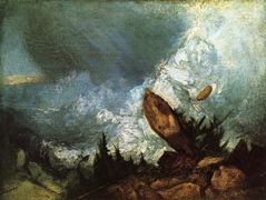 The Fall of an Avalanche in the Grisons — William Turner