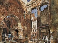 The fish market in Rome – Rudolf von Alt