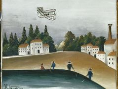 The Fishermen and the Biplane – Henri Rousseau