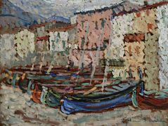 The Fishing Boats on the strike in Collioure – Henri Martin