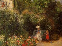The Garden at Pontoise – Camille Pissarro