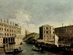 The Grand Canal at Rialto – Canaletto