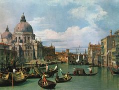 The Grand Canal at the Salute Church – Canaletto