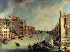The Grand Canal from the Campo San Vio, Venice – Canaletto
