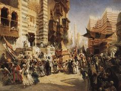 The handing over of the Sacred Carpet in Cairo – Konstantin Makovsky
