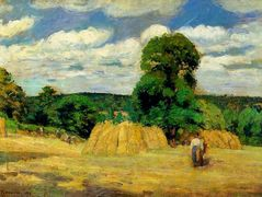 The Harvest at Montfoucault – Camille Pissarro