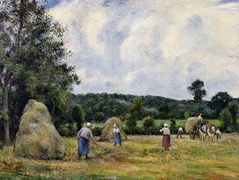 The Harvest at Montfoucault 2 – Camille Pissarro