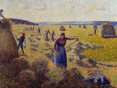 The Harvest of Hay in Eragny – Camille Pissarro