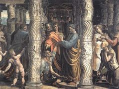 The Healing of the Lame Man (cartoon for the Sistine Chapel)  — Raphael