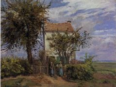 The House in the Fields, Rueil – Camille Pissarro