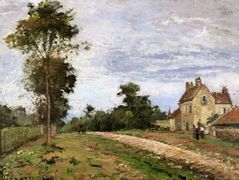 The House of Monsieur Musy, Louveciennes – Camille Pissarro