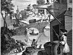 Satire on False Perspective – William Hogarth