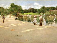 The Lake for Miniature Yachts – William Merritt Chase
