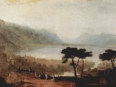 The Lake Geneva seen from Montreux  — William Turner