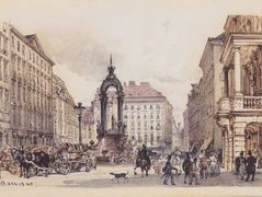 The large market in Vienna – Rudolf von Alt