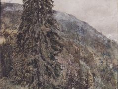 The large pine in Gastein – Rudolf von Alt