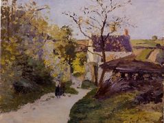 The Large Walnut Tree at Hermitage – Camille Pissarro