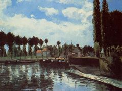 The Lock at Pontoise – Camille Pissarro