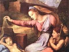 The Madonna of the Blue Diadem or The Madonna of the Veil   — Raphael