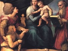 The Madonna of the Fish (The Madonna with the Archangel Gabriel and St. Jerome)  – Raphael