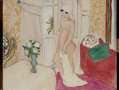 The Maiden and the vase of flowers or pink nude — Henri Matisse