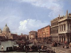 The Molo Looking West – Canaletto