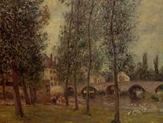 The Moret Bridge – Camille Pissarro