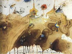The Mountains of Cape Creus on the March – Salvador Dali