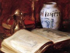 The Old Book — William Merritt Chase