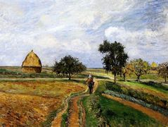 The Old Ennery Road in Pontoise – Camille Pissarro