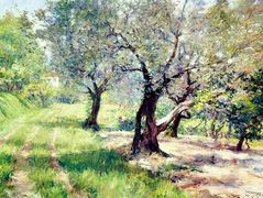 The Olive Grove — William Merritt Chase