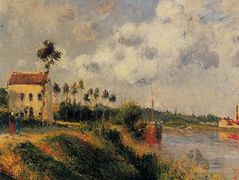 The Path from Halage, Pontoise – Camille Pissarro