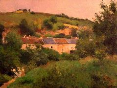 The Path in the Village – Camille Pissarro